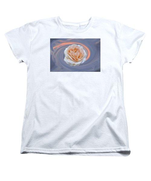 Women's T-Shirt (Standard Cut) featuring the photograph Rose In Swirl by Helen Haw