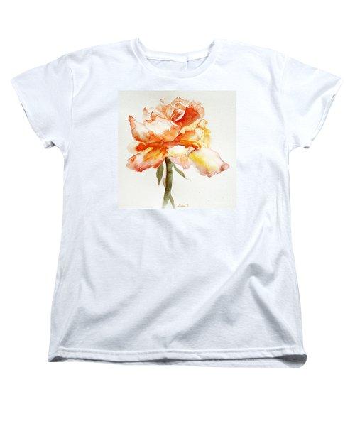 Rose Yellow Women's T-Shirt (Standard Cut) by Jasna Dragun