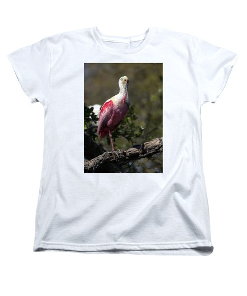 Roseate Spoonbill Women's T-Shirt (Standard Cut) by Lamarre Labadie