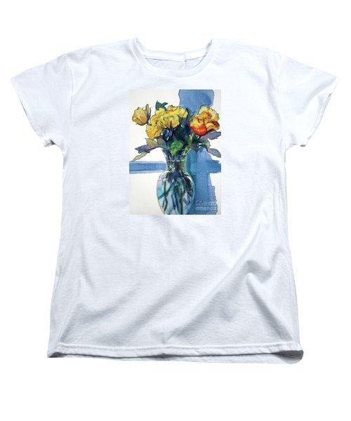 Roses In Vase Still Life I Women's T-Shirt (Standard Cut) by Kathy Braud