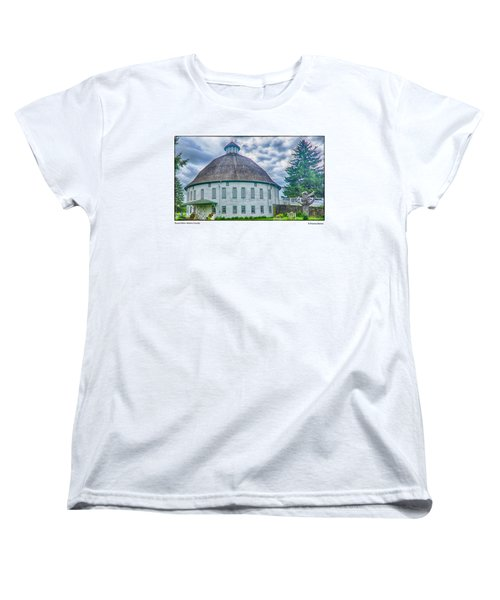 Women's T-Shirt (Standard Cut) featuring the photograph Round Barn, Adams County by R Thomas Berner