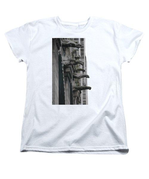 Women's T-Shirt (Standard Cut) featuring the photograph Row Of Gargoyles by Christopher Kirby