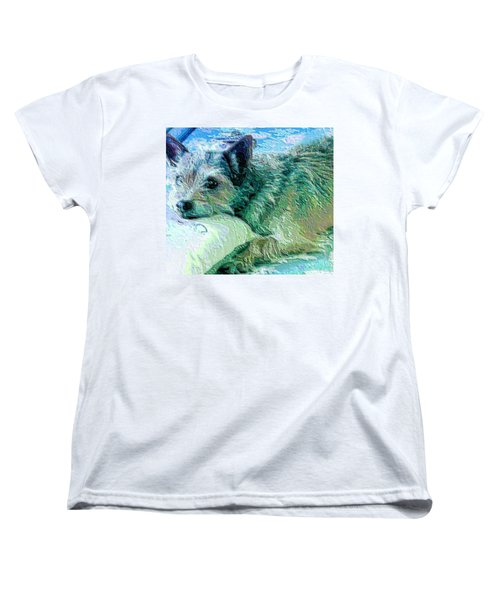 Roxy Women's T-Shirt (Standard Cut) by Vickie G Buccini