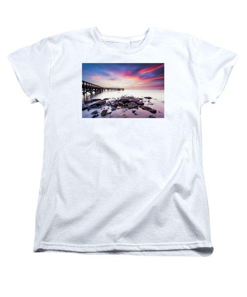 Women's T-Shirt (Standard Cut) featuring the photograph Run To The Sun by Edward Kreis