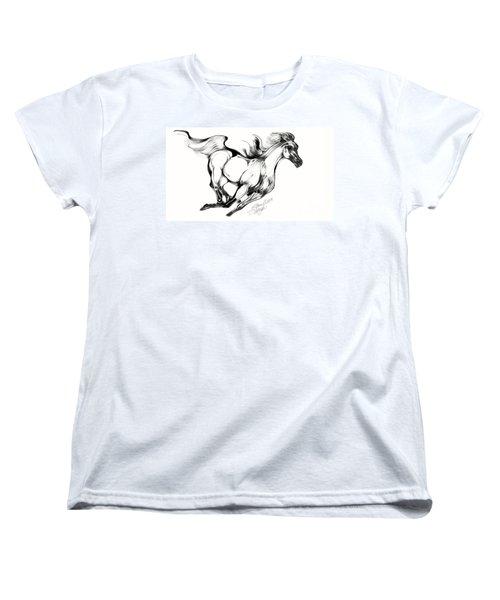 Running Horse Women's T-Shirt (Standard Cut) by Stacey Mayer