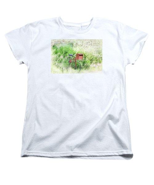 Women's T-Shirt (Standard Cut) featuring the photograph Rural Mailbox by Jean OKeeffe Macro Abundance Art