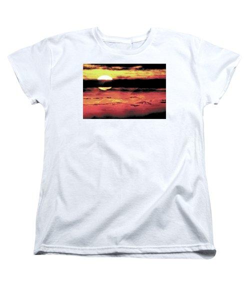 Russet Sunset Women's T-Shirt (Standard Cut) by Paula Ayers