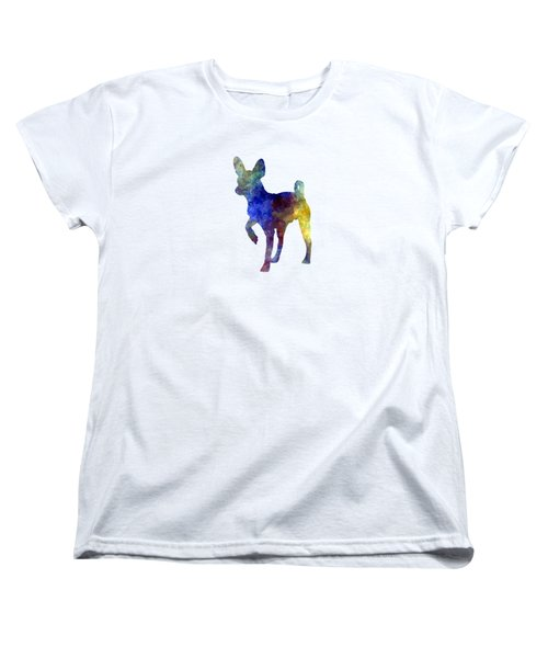 Russian Toy 01 In Watercolor Women's T-Shirt (Standard Cut) by Pablo Romero