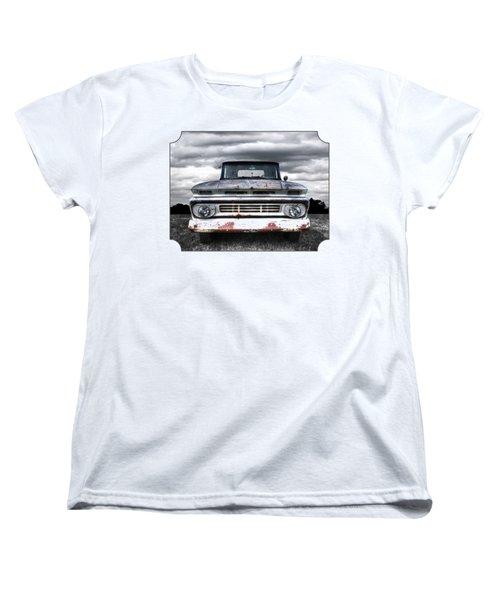 Rust And Proud - 62 Chevy Fleetside Women's T-Shirt (Standard Cut) by Gill Billington