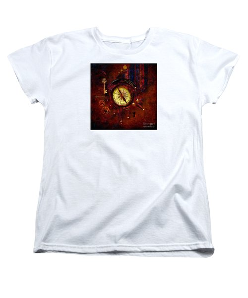 Women's T-Shirt (Standard Cut) featuring the digital art Rusty Time Machine by Alexa Szlavics