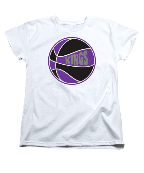 Women's T-Shirt (Standard Cut) featuring the photograph Sacramento Kings Retro Shirt by Joe Hamilton