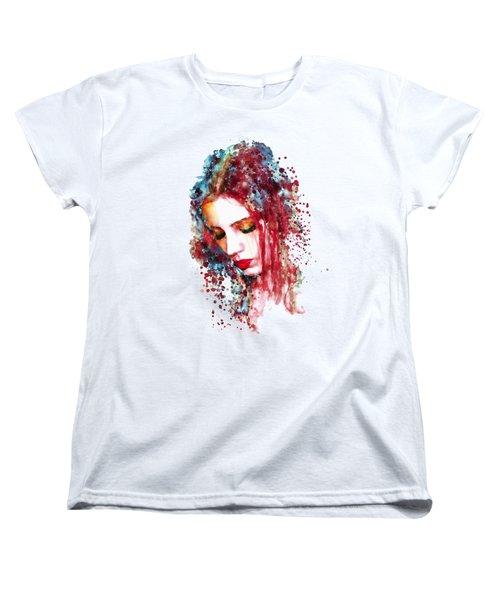 Sad Woman Women's T-Shirt (Standard Cut) by Marian Voicu