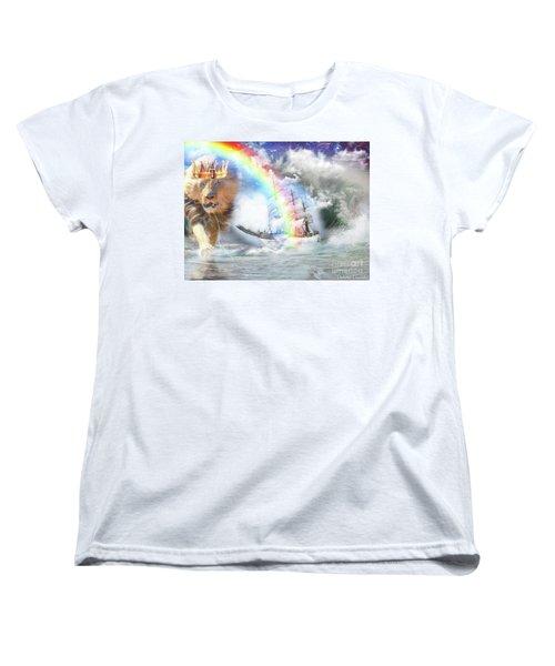 Women's T-Shirt (Standard Cut) featuring the digital art Safe Harbor  by Dolores Develde