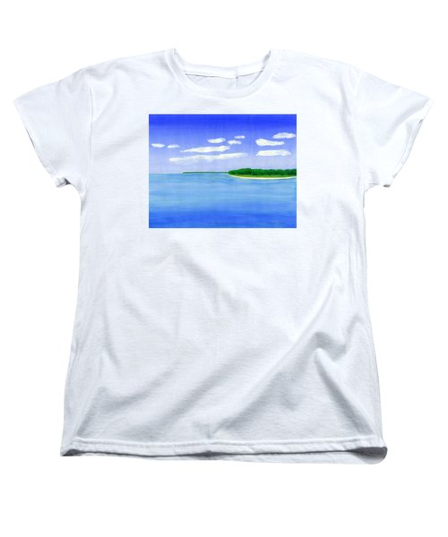 Women's T-Shirt (Standard Cut) featuring the painting Sag Harbor, Long Island by Dick Sauer