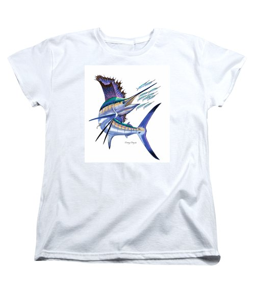 Sailfish Digital Women's T-Shirt (Standard Cut) by Carey Chen