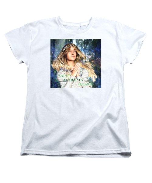Saint Attracta Irish Light Women's T-Shirt (Standard Cut) by Suzanne Silvir