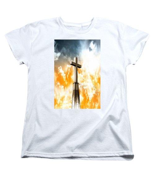 Women's T-Shirt (Standard Cut) featuring the photograph Salvation  by Aaron Berg