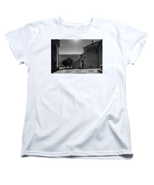 Women's T-Shirt (Standard Cut) featuring the photograph San Francesco Monastery - Fiesole, Italia. by Sonny Marcyan