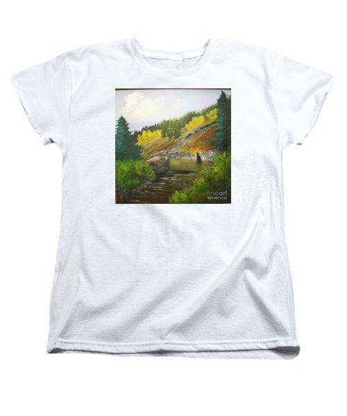 Women's T-Shirt (Standard Cut) featuring the painting San Juan River by Barbara Haviland