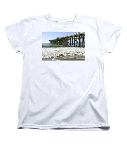 Women's T-Shirt (Standard Cut) featuring the photograph San Simeon Pier by Art Block Collections