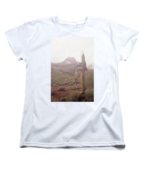 Sancuatary Cove Fog Women's T-Shirt (Standard Cut) by Donna Greene