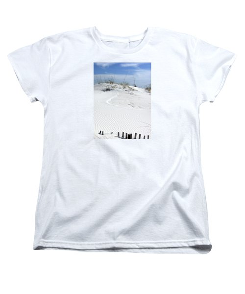 Women's T-Shirt (Standard Cut) featuring the photograph Sand Dunes Dream 2 by Marie Hicks