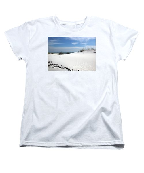 Women's T-Shirt (Standard Cut) featuring the photograph Sand Dunes Dream by Marie Hicks