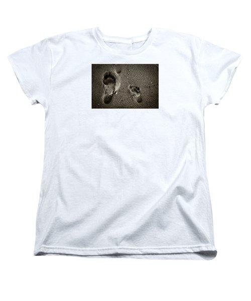 Women's T-Shirt (Standard Cut) featuring the photograph Sand Feet by Lora Lee Chapman