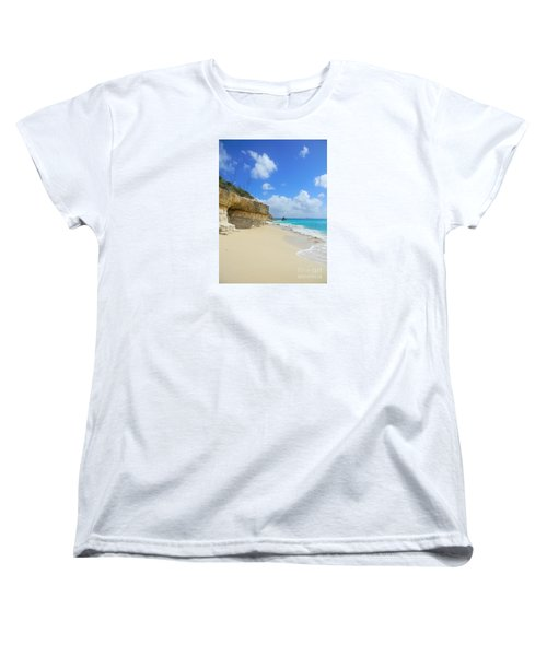 Sand Sea And Sky Women's T-Shirt (Standard Cut) by Expressionistart studio Priscilla Batzell