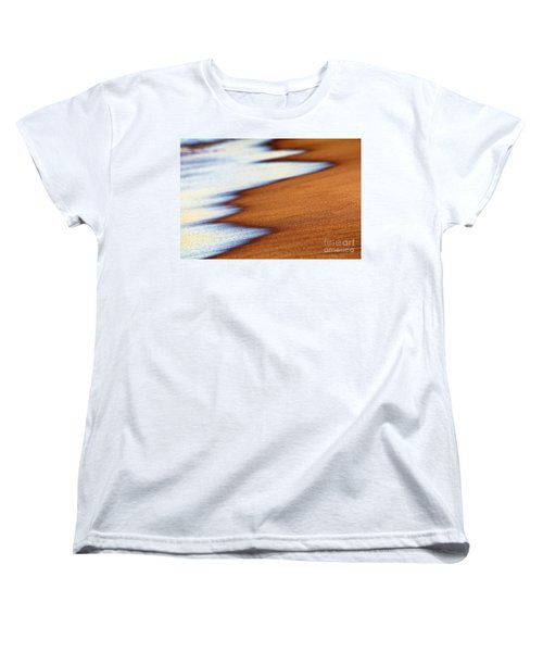 Sand And Waves Women's T-Shirt (Standard Cut) by Tony Cordoza