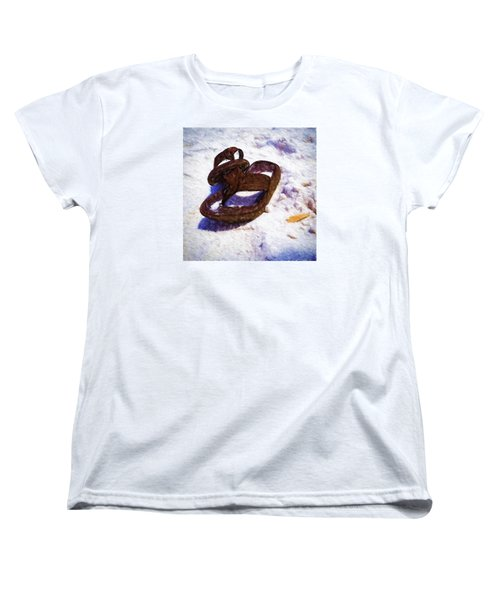 Sandals In The Sand Women's T-Shirt (Standard Cut) by Rena Trepanier