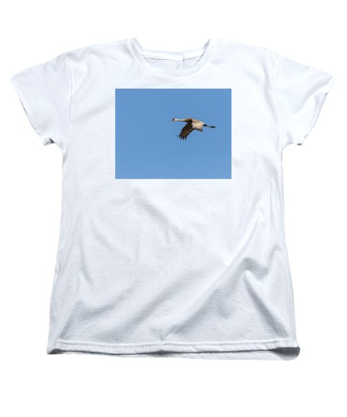 Women's T-Shirt (Standard Cut) featuring the photograph Sandhill Crane 2017-1 by Thomas Young