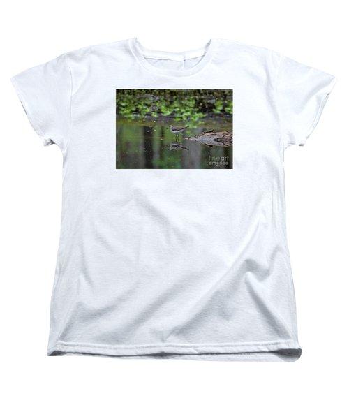 Sandpiper In The Smokies II Women's T-Shirt (Standard Cut) by Douglas Stucky