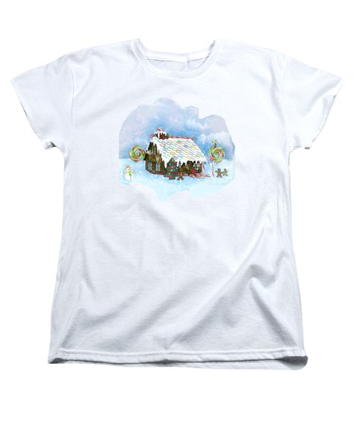 Santa Loves Cookies Women's T-Shirt (Standard Cut) by Methune Hively