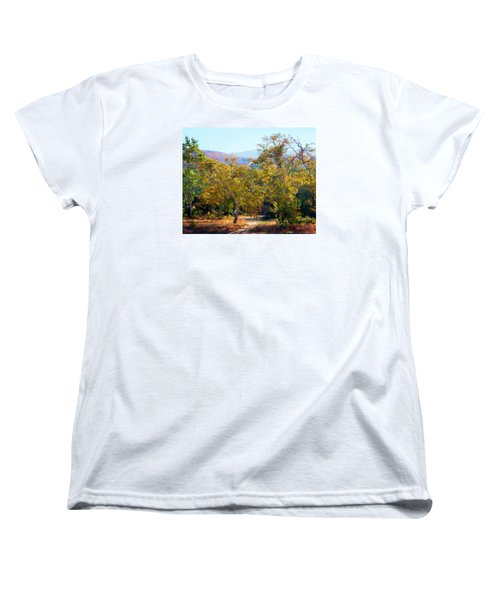 Women's T-Shirt (Standard Cut) featuring the photograph Santiago Creek Trail by Timothy Bulone