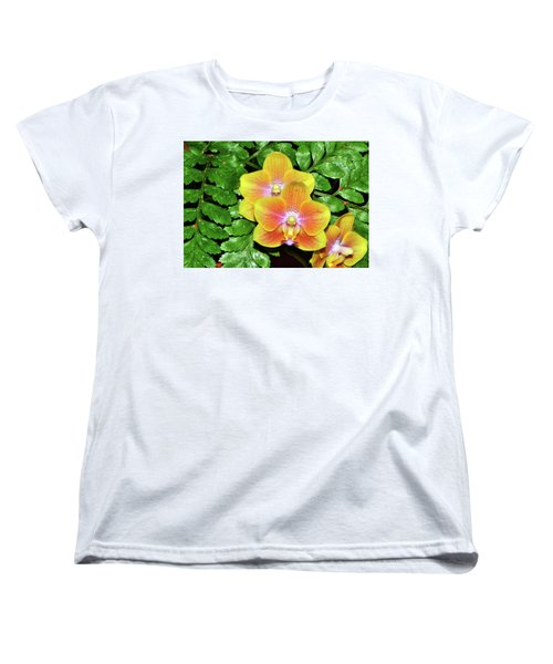 Sara Gold Orchids 003 Women's T-Shirt (Standard Cut) by George Bostian