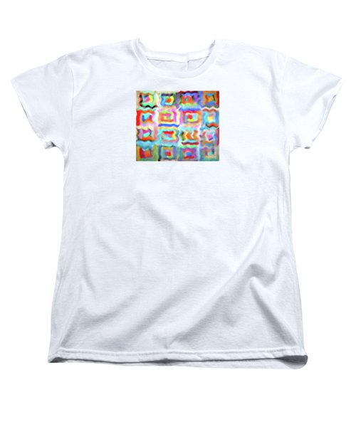 Women's T-Shirt (Standard Cut) featuring the photograph Saturday Quilting Muse by Gwyn Newcombe