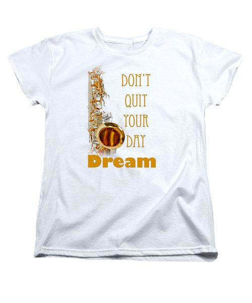 Saxophone Fine Art Photographs Art Prints 5019.02 Women's T-Shirt (Standard Cut) by M K  Miller