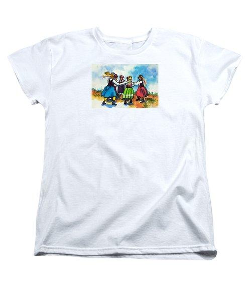 Scandinavian Dancers Women's T-Shirt (Standard Cut) by Kathy Braud