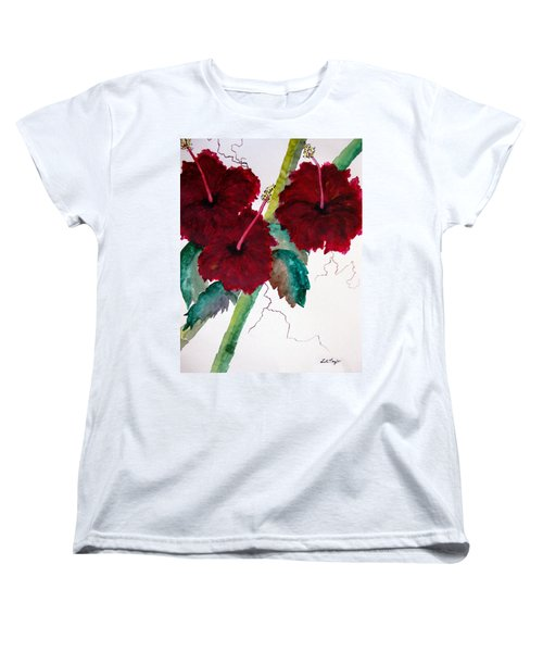 Scarlet Red Women's T-Shirt (Standard Cut) by Lil Taylor