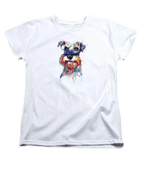 Schnauzer Head Women's T-Shirt (Standard Fit)