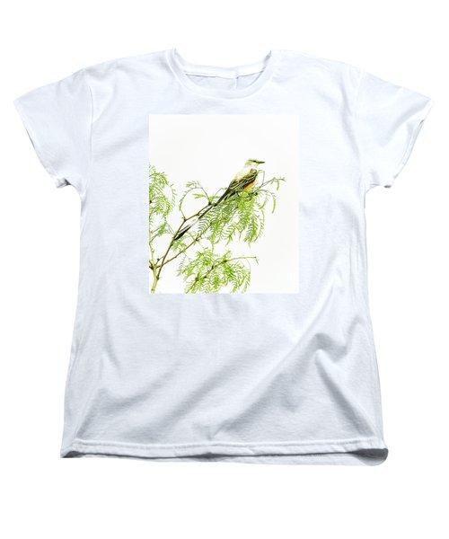 Women's T-Shirt (Standard Cut) featuring the photograph Scissortail On Mesquite by Robert Frederick