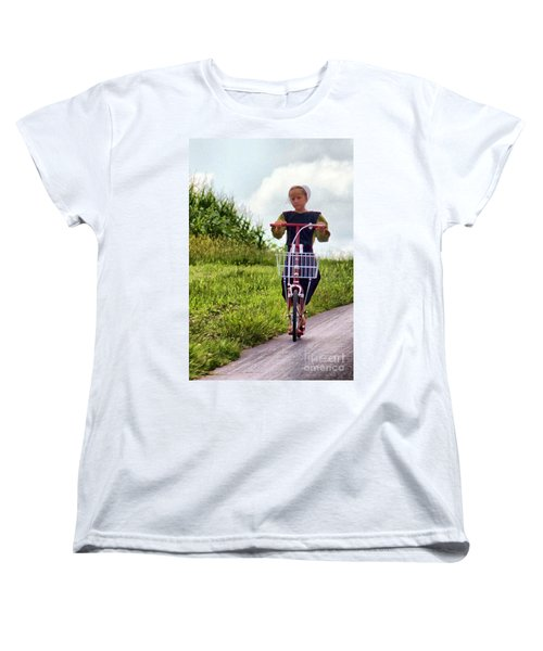 Women's T-Shirt (Standard Cut) featuring the photograph Scootin' by Polly Peacock