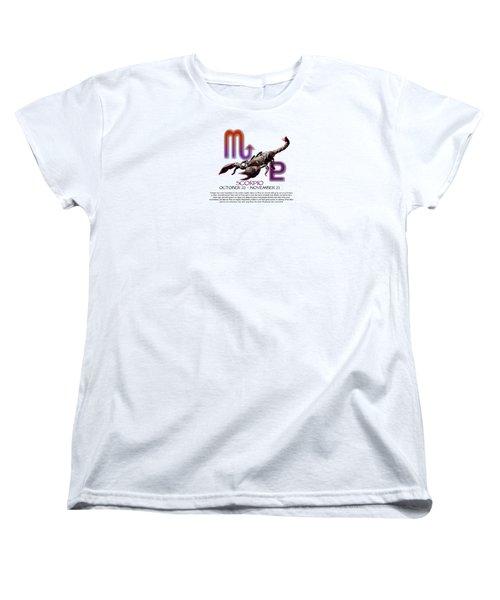 Scorpio Sun Sign Women's T-Shirt (Standard Cut) by Shelley Overton