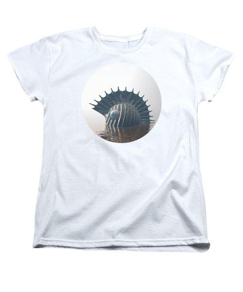 Women's T-Shirt (Standard Cut) featuring the digital art Sea Monsters by Phil Perkins