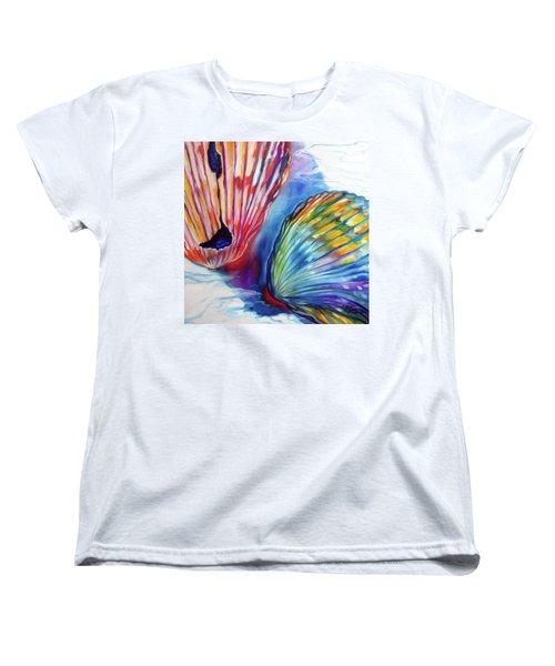 Sea Shell Abstract II Women's T-Shirt (Standard Cut) by Marcia Baldwin