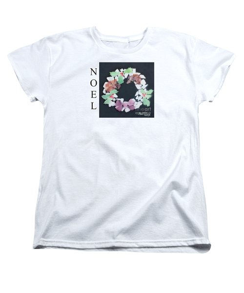 Women's T-Shirt (Standard Cut) featuring the painting Seaglass Wreath by Stan Tenney