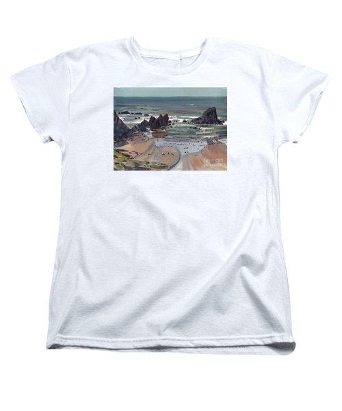 Seal Rock Oregon Women's T-Shirt (Standard Cut) by Donald Maier