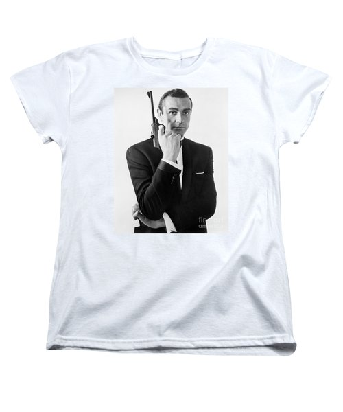 Sean Connery (1930-) Women's T-Shirt (Standard Cut) by Granger