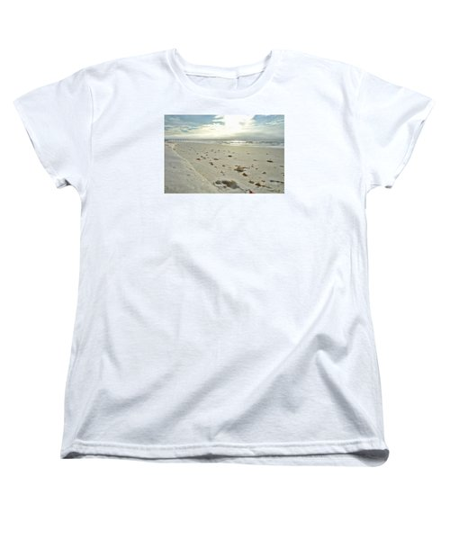 Women's T-Shirt (Standard Cut) featuring the photograph Seashells On The Seashore by Renee Hardison